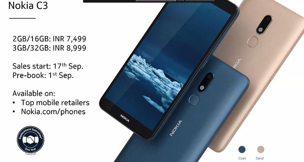 Nokia C3 India
