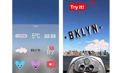 Instagram NYC Stickers