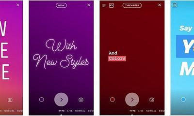 Instagram Stories Type