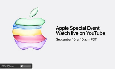 Apple iPhone Event Live on YouTube