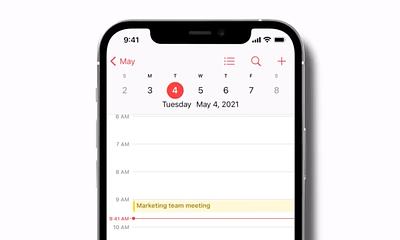 Calendar on iPhone