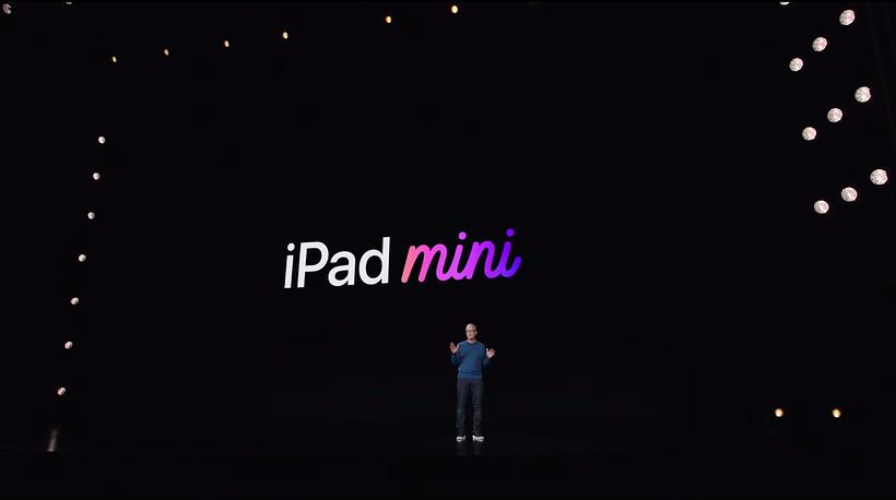 Apple iPad mini and Tim Cook